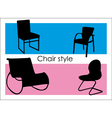 Chair style vector image