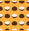 coconut seamless pattern flat design vector image