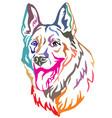 colorful decorative portrait of dog shepherd 3 vector image vector image
