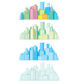 colorful panorama of city vector image vector image