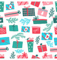 colorful seamless gift pattern gift boxes vector image vector image