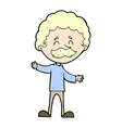 comic cartoon happy man with mustache vector image vector image