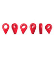 creative of locator pin vector image vector image