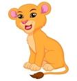 Cute lioness cartoon vector image vector image