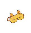 cute yellow sleeping mask with bunny ears and vector image vector image