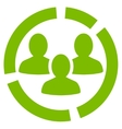 Demography diagram icon from Business Bicolor Set vector image