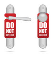 do not disturb design on door in silver vector image vector image