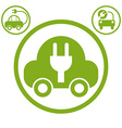 Electric car simple icon vector image vector image