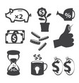 finance icon set vector image vector image