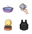 fishing cleaning and other web icon in cartoon vector image vector image