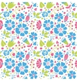 Flowers and paisley vector image