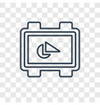 geometry concept linear icon isolated on vector image