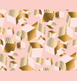 gold and pale rose cubes in dynamic chaos vector image vector image