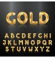 Golden alphabet Set of metallic 3d letters vector image vector image