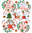Greeting card Christmas card with Santa Claus vector image vector image