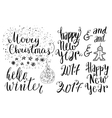 Happy new year lettering set vector image vector image