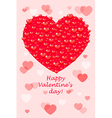 Happy Valentines Day - card with hearts vector image
