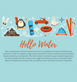 hello winter active vacations in wintertime vector image vector image