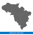 high quality map city of serbia vector image vector image