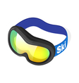 Isometric 3d of snow goggles vector image vector image