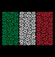 italy flag pattern of sexy lips icons vector image