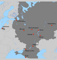 map of european russia vector image vector image