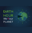 march earth hour day vector image