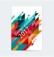 minimalistic cover design template vector image vector image
