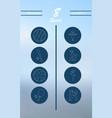 minimalistic thin line sports sharp icons vector image vector image