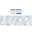 money finance banner design vector image