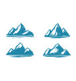 mountain symbol mountaineering climbing vector image vector image