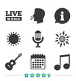 musical elements icon microphone and guitar vector image vector image