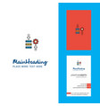 network setting creative logo and business card vector image