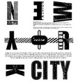 newyork fashion tee typography graphic design vector image vector image