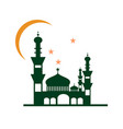 night at mosque building design vector image