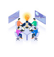office teamwork isometric vector image vector image