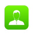 pastor icon digital green vector image