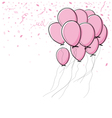 pink balloon on white background vector image vector image