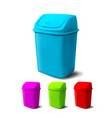 plastic bucket bucketful different colors vector image vector image