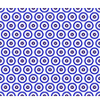 porcelain indigo pattern vector image