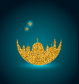 ramadan celebration background holy month mosque vector image