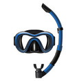 realistic detailed 3d diving mask and snorkel set vector image