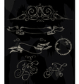 Ribbon stylized drawing with chalk vector image vector image