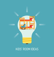 Room Ideas for a Kids Room vector image