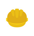 safety helmet isolated icon vector image vector image