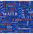 Seamless tag cloud with water words vector image
