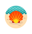 Seashell icon Summer Vacation vector image vector image