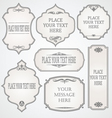 set frames calligraphic design vector image