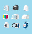 set of home electronics appliances icon vector image vector image