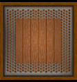 sheet perforation on a wooden vector image vector image